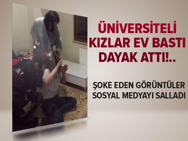 ÜNİVERSİTELİ KIZLARIN ŞOKE EDEN KAVGASI!