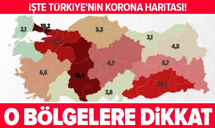 İşte Türkiye'nin korona haritası!