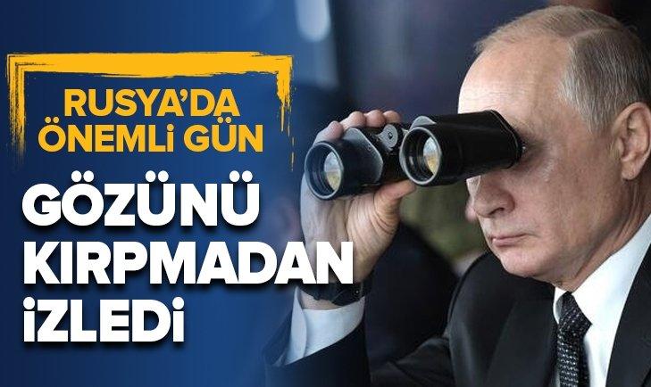 RUSYA'DA BÜYÜK TATBİKAT! PUTİN GÖZÜNÜ KIRPMADAN İZLEDİ