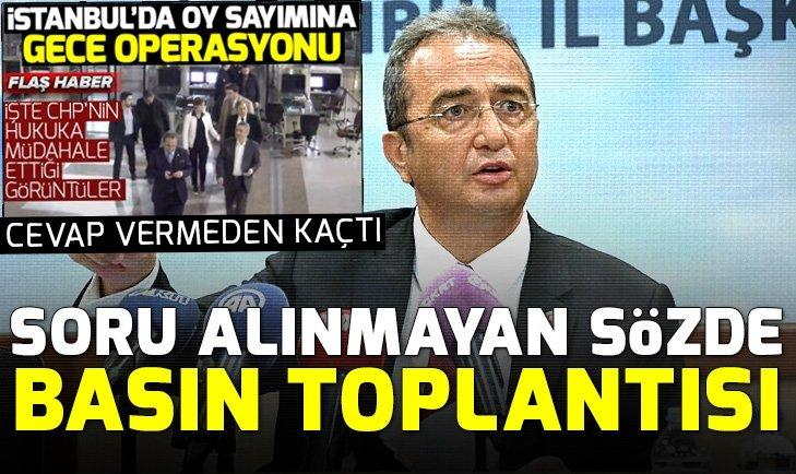 CHP'li Bülent Tezcan sorulardan kaçtı