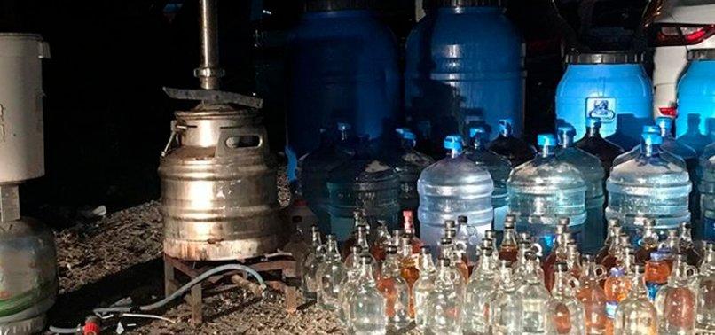 Yılbaşı öncesi 500 bin TL'lik kaçak içki ele geçirildi