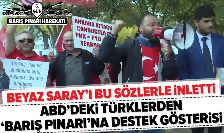 ABD'DEKİ TÜRKLERDEN BARIŞ PINARI HAREKATINA DESTEK GÖSTERİSİ