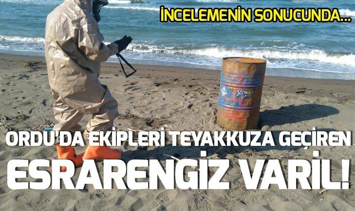 ORDU SAHİLDE ESRARENGİZ VARİLLER!