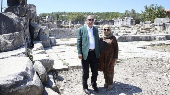 Başkan Erdoğan, antik kenti ziyaret etti