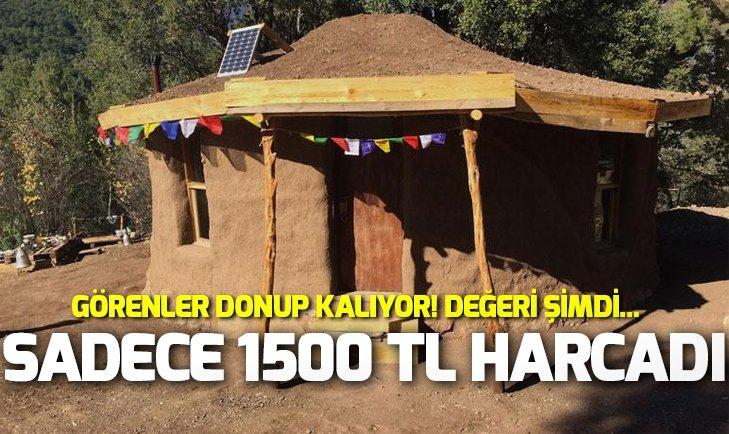 1500 TL'YE KENDİ EVİNİ YAPTI! GÖRENLER DONUP KALIYOR