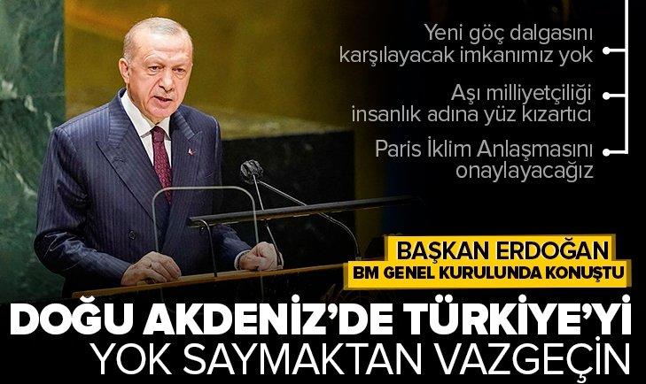 Başkan Recep Tayyip Erdoğan'dan Birleşmiş Milletler Genel Kurulunda son dakika açıklamaları! Başkan Erdoğan BM Genel Kurulunda ne mesaj verdi?