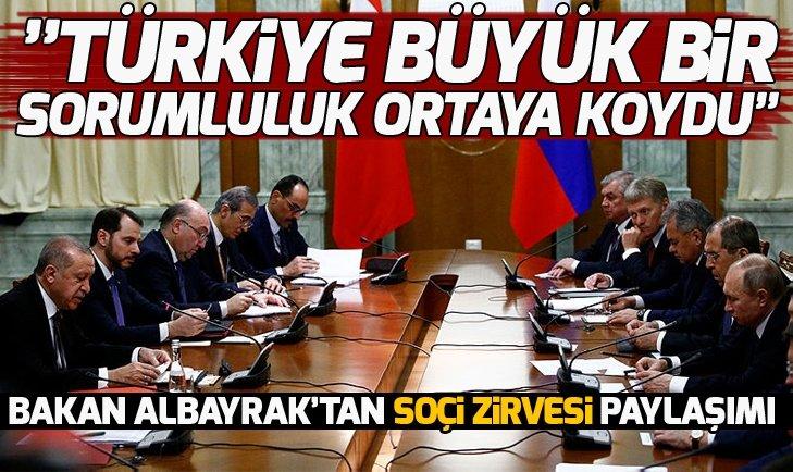 BAKAN ALBAYRAK'TAN SOÇİ ZİRVESİ PAYLAŞIMI