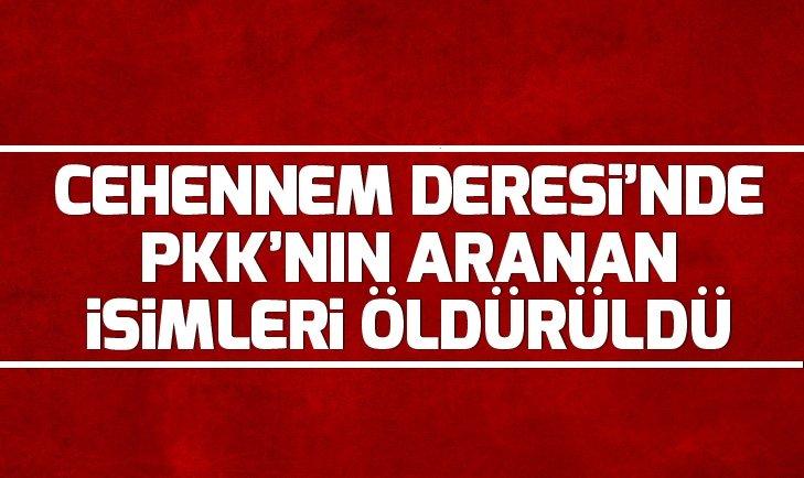 SON DAKİKA: CEHENNEM DERESİ'NDE PKK'NIN ARANAN İSİMLERİ ÖLDÜRÜLDÜ