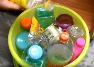 Pet şişeyi çöpe atmak yerine bakın ne yaptı