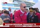 Son dakika: Başkan Erdoğan TEKNOFEST alanına böyle geldi |Video