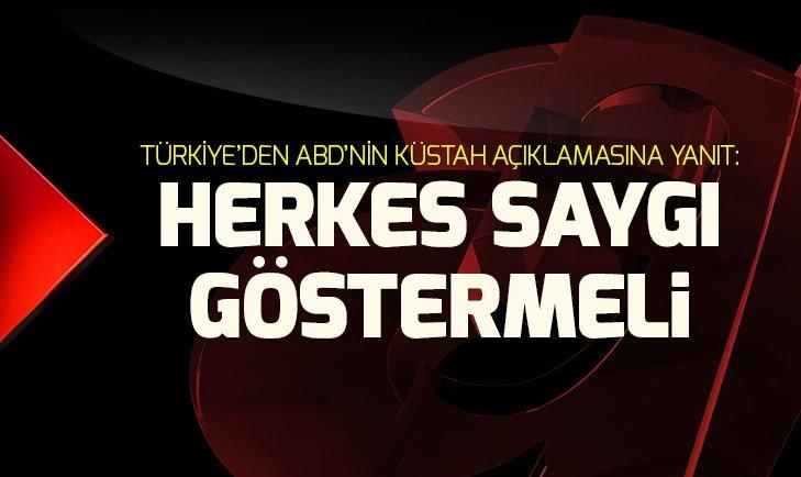 Türkiye'den ABD'ye YSK yanıtı