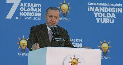 Son dakika: Başkan Erdoğan'dan AK Parti Kahramanmaraş 7. Olağan İl Kongresi'nde önemli açıklamalar