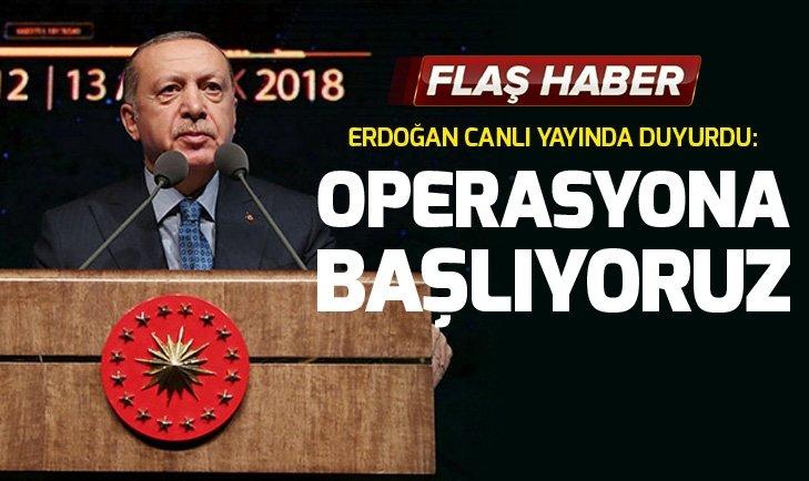 Son dakika: Başkan Erdoğan: Birkaç gün içinde Fırat'ın doğusuna operasyon başlayacak