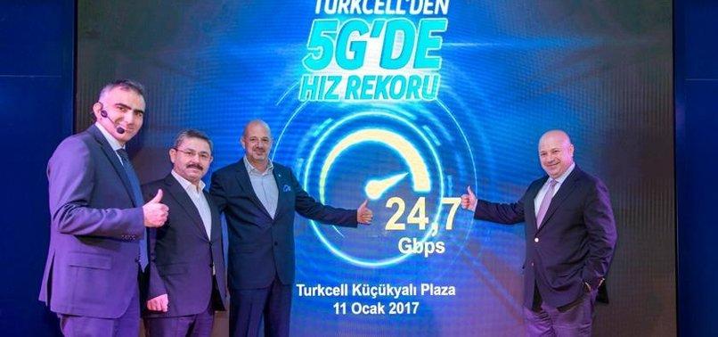 TURKCELL 5G'DE HIZ REKORU KIRDI