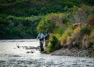 Balık tutarken hayatlarının şokunu yaşadılar!