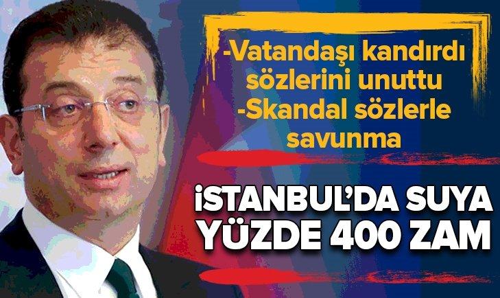 İSTANBUL'DA SUYA YÜZDE 400'LÜK ZAM!