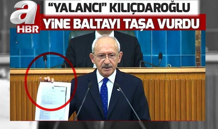 CHP LİDERİ KILIÇDAROĞLU YİNE BALTAYI TAŞA VURDU!