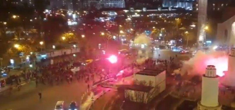 PARİS'TE TÜRK TARAFTARLARA ÇİRKİN SALDIRI!