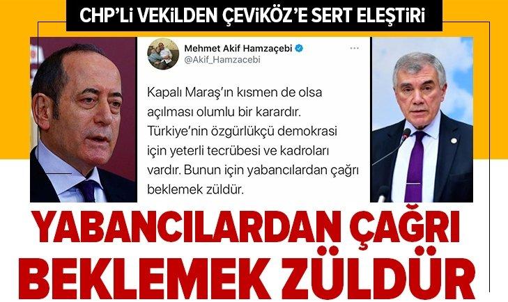 CHP'li vekil Hamzaçebi'den Çeviköz'e eleştiri