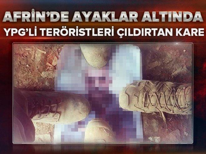 YPG'Lİ TERÖRİSTLERİ ÇILDIRTAN KARE