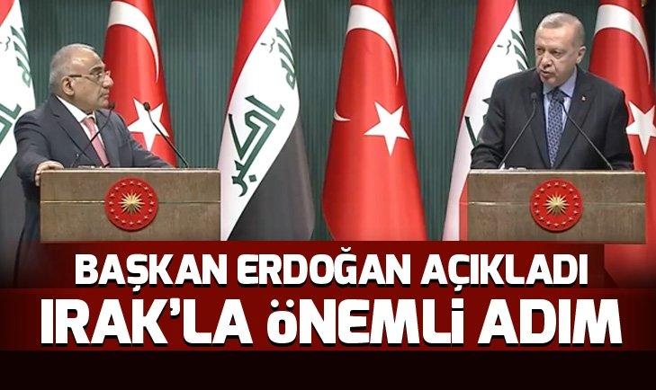 Son dakika: Başkan Erdoğan ve Irak Başbakanı Abdulmehdiden önemli açıklamalar