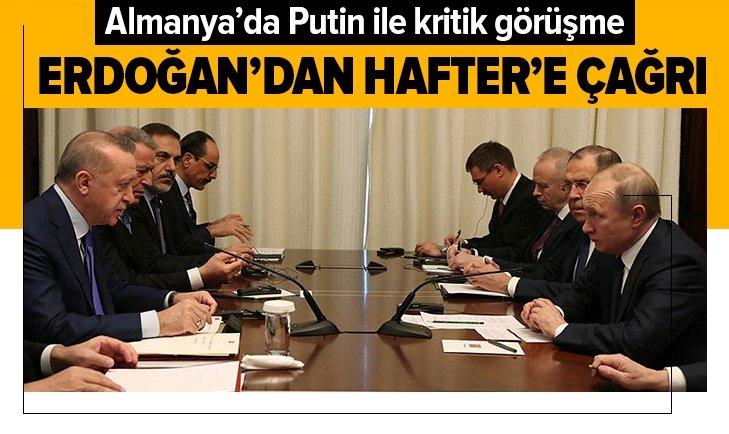 Erdoğan ve Putin'den Berlin'de önemli görüşme