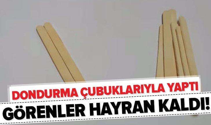 DONDURMA ÇUBUKLARIYLA YAPTIĞI İCAT HERKESİ ŞAŞIRTTI!