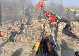 Bordo Bereli Hamza Özel Kuvvetler Tümeni Fırat'ın doğusuna yönelik operasyona hazır