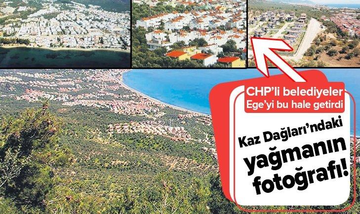 KAZ DAĞLARI'NDAKİ YAĞMANIN FOTOĞRAFI
