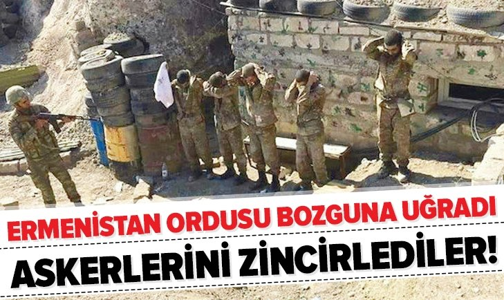 Ermenistan ordusu askerlerini mevzilere zincirliyor!