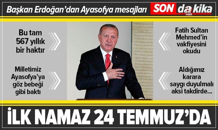 Başkan Erdoğan ulusa sesleniyor