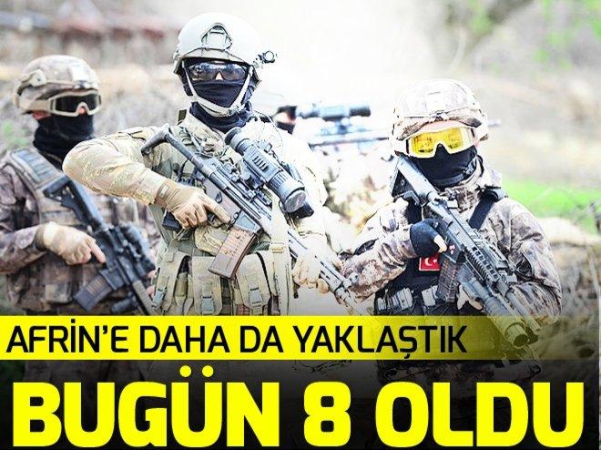 AFRİN YOLUNDA 8 KÖY DAHA TEMİZLENDİ