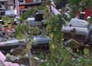 Sancaktepe'de düşen askeri helikopterin enkazı havadan görüntülendi