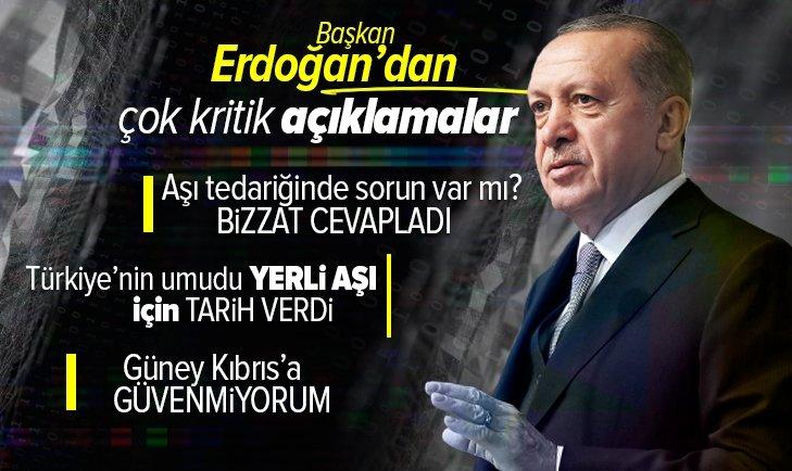 Başkan Erdoğan Cuma namazı müjdeledi! Yerli aşının üretim tarihini verdi