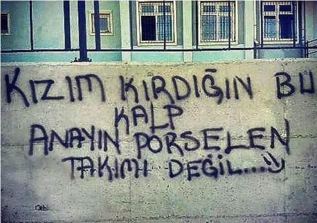 Türk Işi Duvar Yazıları A Haber