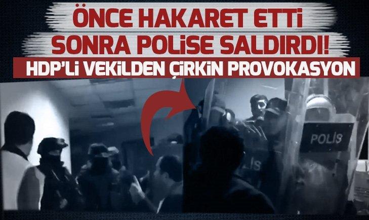 HDP Van Milletvekili Tayip Temel, polise yumrukla saldırdı | VİDEO