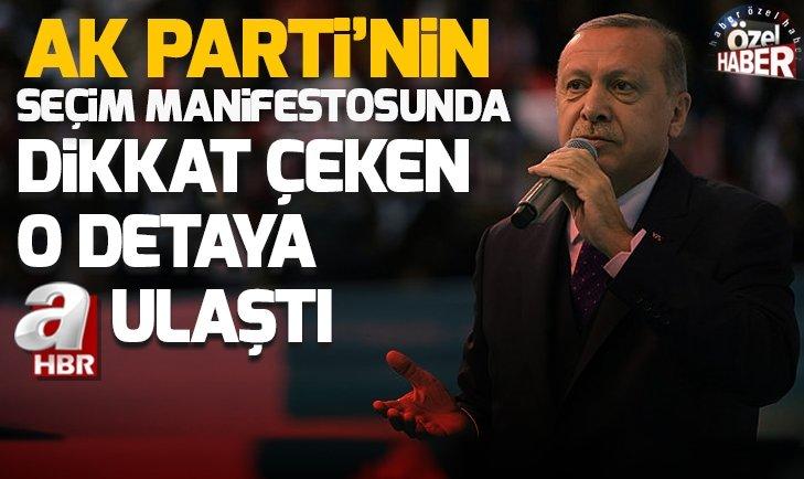 AK PARTİ'NİN SEÇİM MANİFESTOSUNDA '1994' VURGUSU!