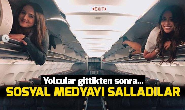 Bu hostesler sosyal medyayı salladı! Yolcular gittikten sonra...