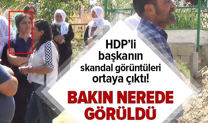 O başkan PKK'lı teröristin defin işleminde…