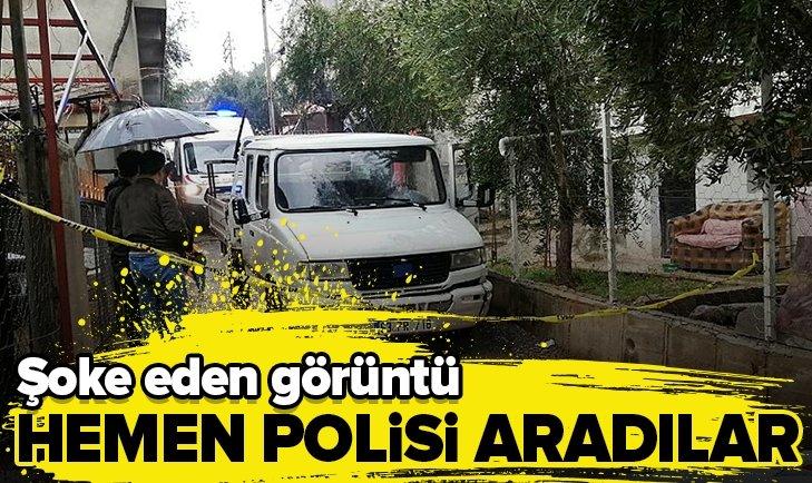 ŞOKE EDEN GÖRÜNTÜ! HEMEN POLİSİ ARADILAR