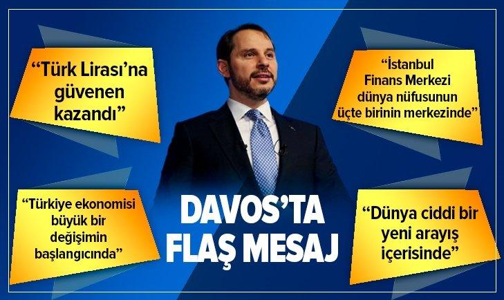 BAKAN ALBAYRAK'TAN DAVOS'TA FLAŞ AÇIKLAMALAR