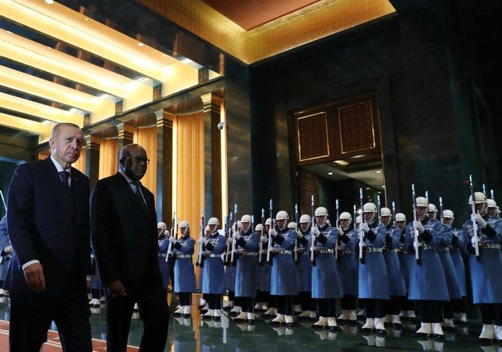 Başkan Erdoğan Burkina Faso Devlet Başkanı Kabore'yi karşıladı