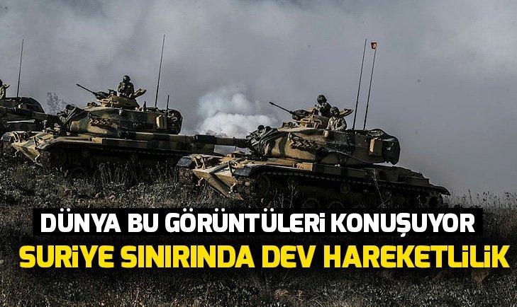 TSK'DAN FLAŞ HAMLE! SURİYE SINIRINDA DEV HAREKETLİLİK...