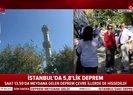 Son dakika: İstanbulda şiddetli deprem! Avcılarda caminin minaresi yıkıldı |Video