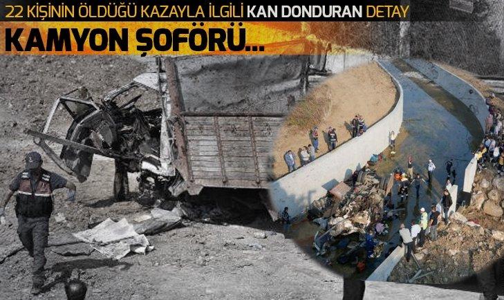 İZMİR'DE 22 KİŞİNİN ÖLDÜĞÜ KAZAYLA İLGİLİ FLAŞ GELİŞME! KAMYON ŞOFÖRÜ...