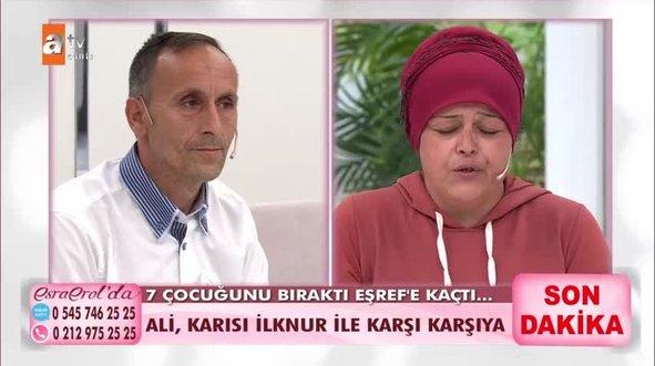İlknur Biryan Esra Erol'da eşiyle yüzleşti