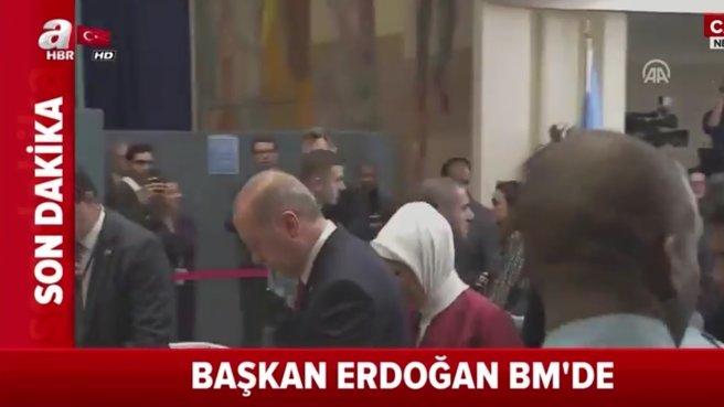 Başkan Erdoğan BM Genel Kurulu'na geldi