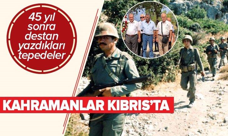 KIBRIS BARIŞ HAREKATI KAHRAMANLARI 45 YIL SONRA AYNI YERDE