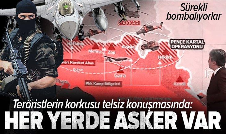 Son dakika: Metina'da PKK köşeye sıkıştı! Teröristlerin telsiz konuşmaları deşifre oldu: Sürekli bombalıyorlar! Her yerden asker geliyor