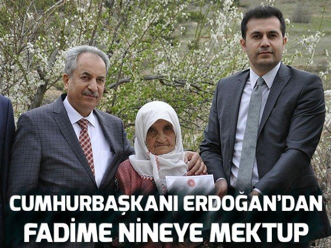 Erdoğan'dan Fadime nineye mektup